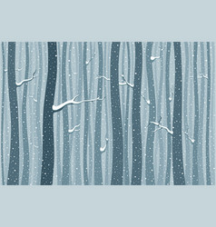 Forest in winter vector