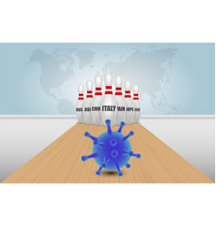 global coronavirus pandemic poster banner vector image