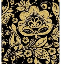 Gold glittering oklahoma seamless pattern vector