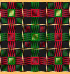 green red scottish seamless pattern vector image