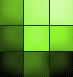 Green squares abstract background vector image