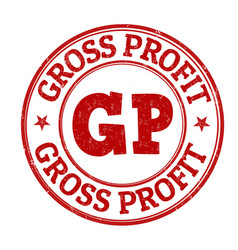 Gross profit sign or stamp vector