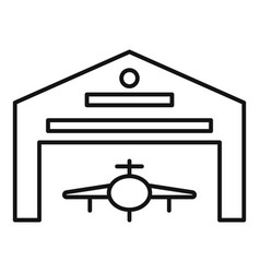 Hangar parking icon outline style vector