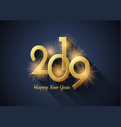 happy new year 2019 poster vector image