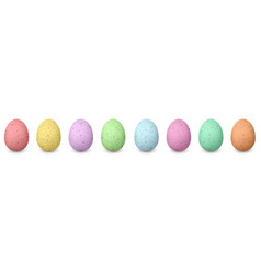 happy shabby easter colored eggs in a row set of vector image