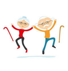 Healthy elderly couple vector