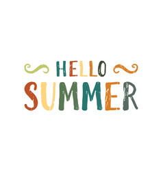 hello summer inscription vector image