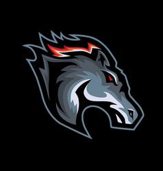 horses head mascot logo vector image
