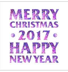 Inscription Merry Christmas 2017 Happy new year vector