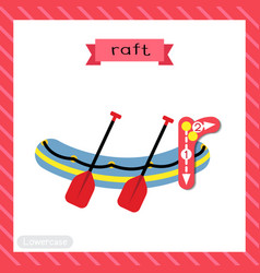 Letter r lowercase tracing raft vector