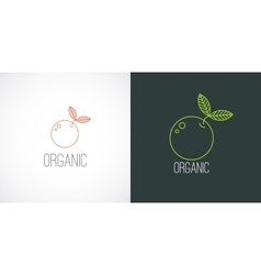 logo label in linear style vector image