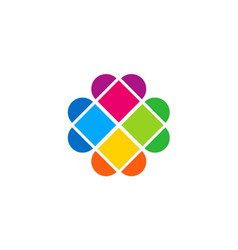 Love geometry colorful logo vector