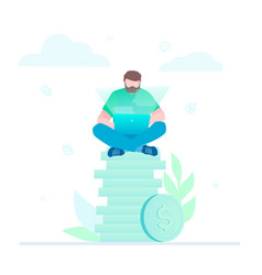 Making money - flat design style colorful vector