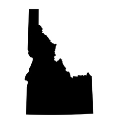 map us state idaho vector image