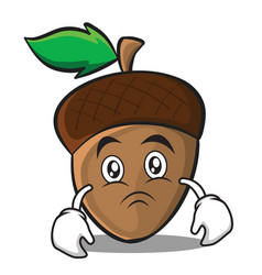 Moody acorn cartoon character style vector