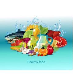 Natural organic food vector