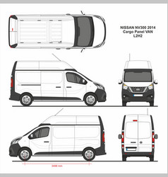 Nissan nv300 cargo panel van l2h2 2014 vector