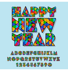 Patched happy new year greeting card vector