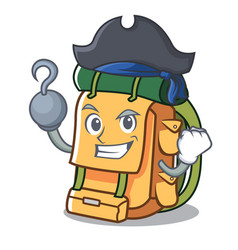 pirate backpack character cartoon style vector image