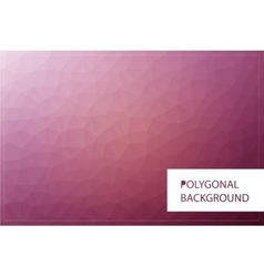 Polygonal greeting card mockup vector image