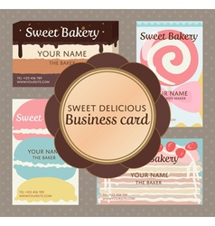 pop up sweet delicious cute bakery and confection vector image
