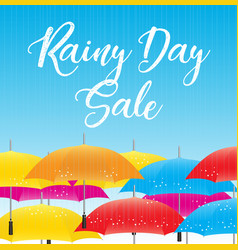 Rainy day sale special offer banner vector