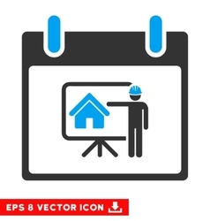 Realty Developer Calendar Day Eps Icon vector