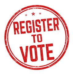 register to vote sign or stamp vector image