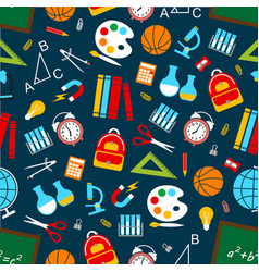 School science seamless pattern vector