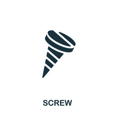 Screw icon monochrome simple element from vector