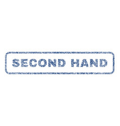 second hand textile stamp vector image