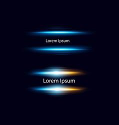 Set realistic blue lens vector