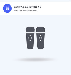 shin guards icon filled flat sign solid vector image