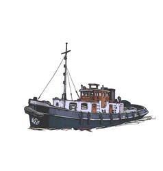 small motor ship vector image