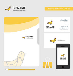 sparrow business logo file cover visiting card vector image