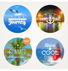 Summer holidays travel and vacation set vector image