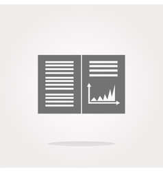 Text file sign icon Add File document with chart vector image