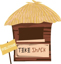 Tiki Shack Welcome vector