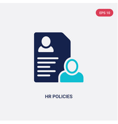 Two color hr policies icon from general-1 concept vector
