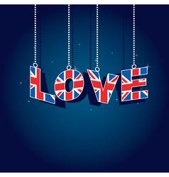 United kingdom love vector