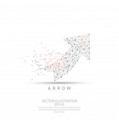 Up arrow wire frame low poly vector