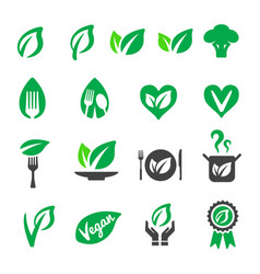 vegan icon vector image