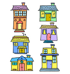 Vetor house colorful set vector