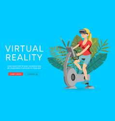 virtual augmented reality vector image