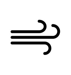wind line icon vector image