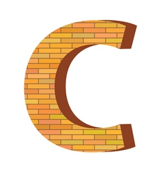 brick letter C vector image vector image
