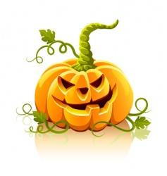 frightful Halloween pumpkin vegetable isolate vector image