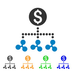 ripple money relations icon vector image