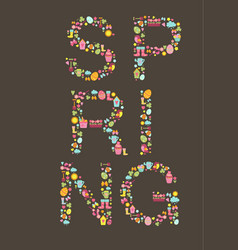 spring lettering template vector image vector image