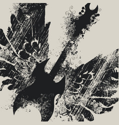 with an electric guitar and wings vector image